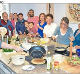 Gemeinsames Kochen beim Netzwerk für kulturelle Vielfalt