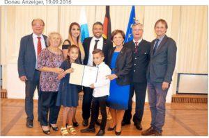 Cem Yasinoglu mit bayerischer Sozialmedaille ausgezeichnet